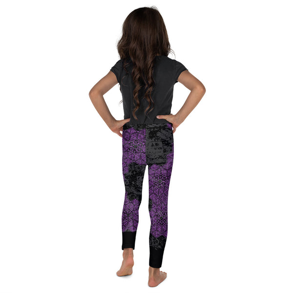 Grunge Geometric Purple Kid's Legging