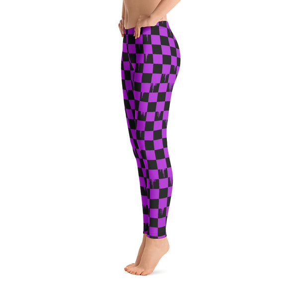 Pink Checker Drips Legging