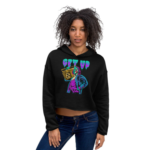 Ben Zombie Crop Hooded Sweatshirt