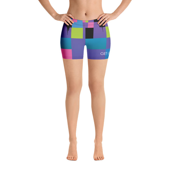 Glitch 2 Yoga Shorts