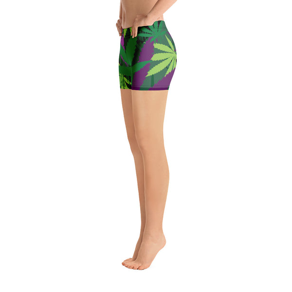 Green Leaf Yoga Shorts