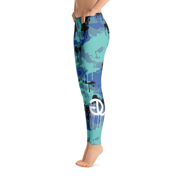 Camo Drip Blue Legging