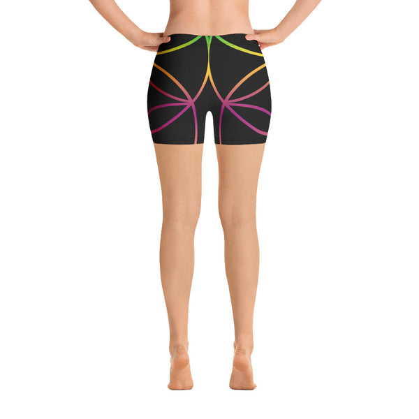 Flower Life Yoga Shorts