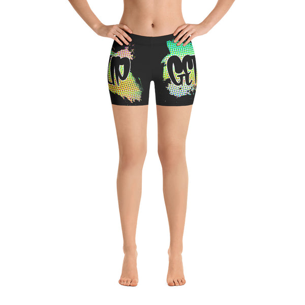 Get Up Abstract Yoga Shorts