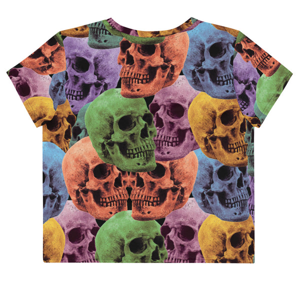 Skull Color Crop Tee