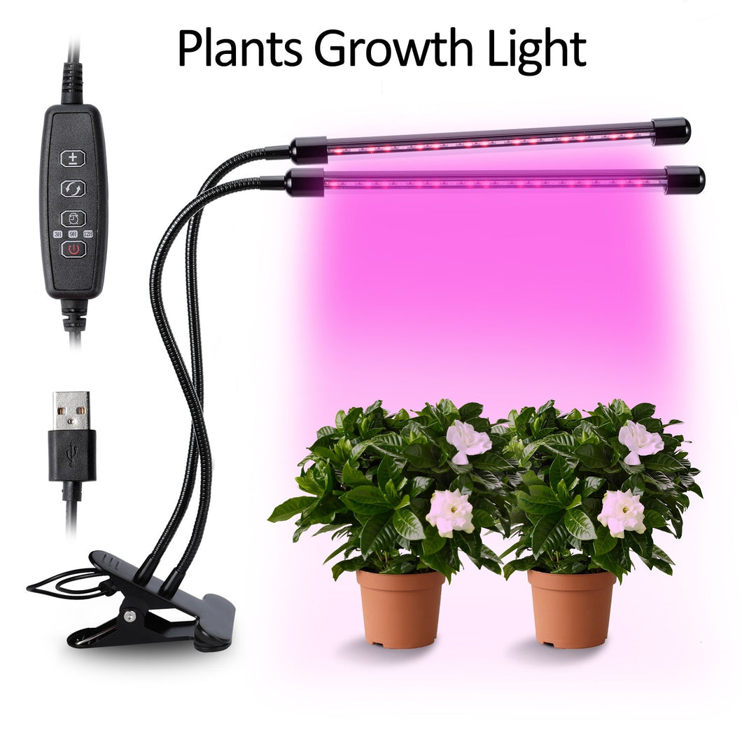 20W Dual Head 40-LED Plant Grow Lights Growing Lamps