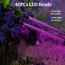 Load image into Gallery viewer, 20W Dual Head 40-LED Plant Grow Lights Growing Lamps