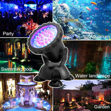 Load image into Gallery viewer, 2PCS Aquarium Diving Spotlight Waterproof Underwater Fish Tank Lights
