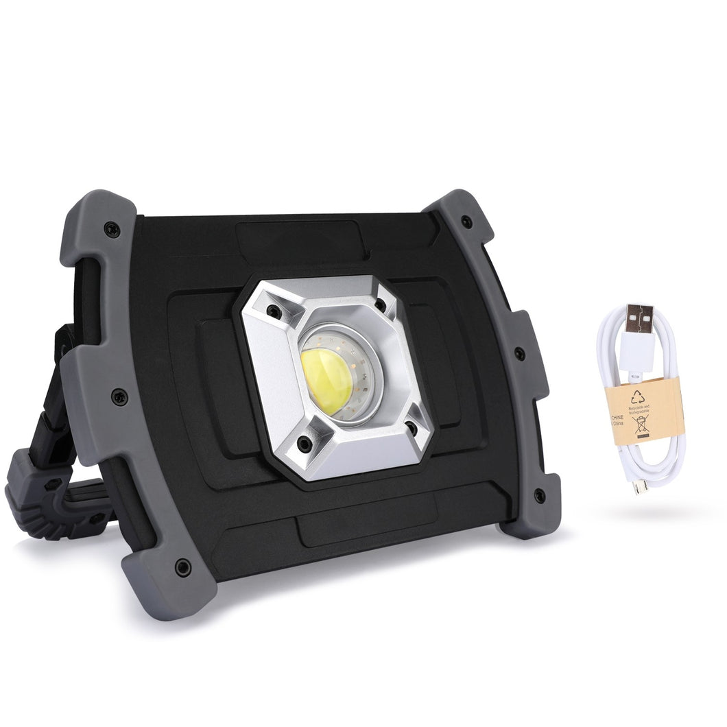 Portable COB Work Light,20W Rechargeable Outdoor Flood Light