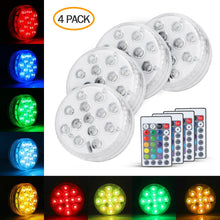 Load image into Gallery viewer, Submersible LED Lights 4PACK