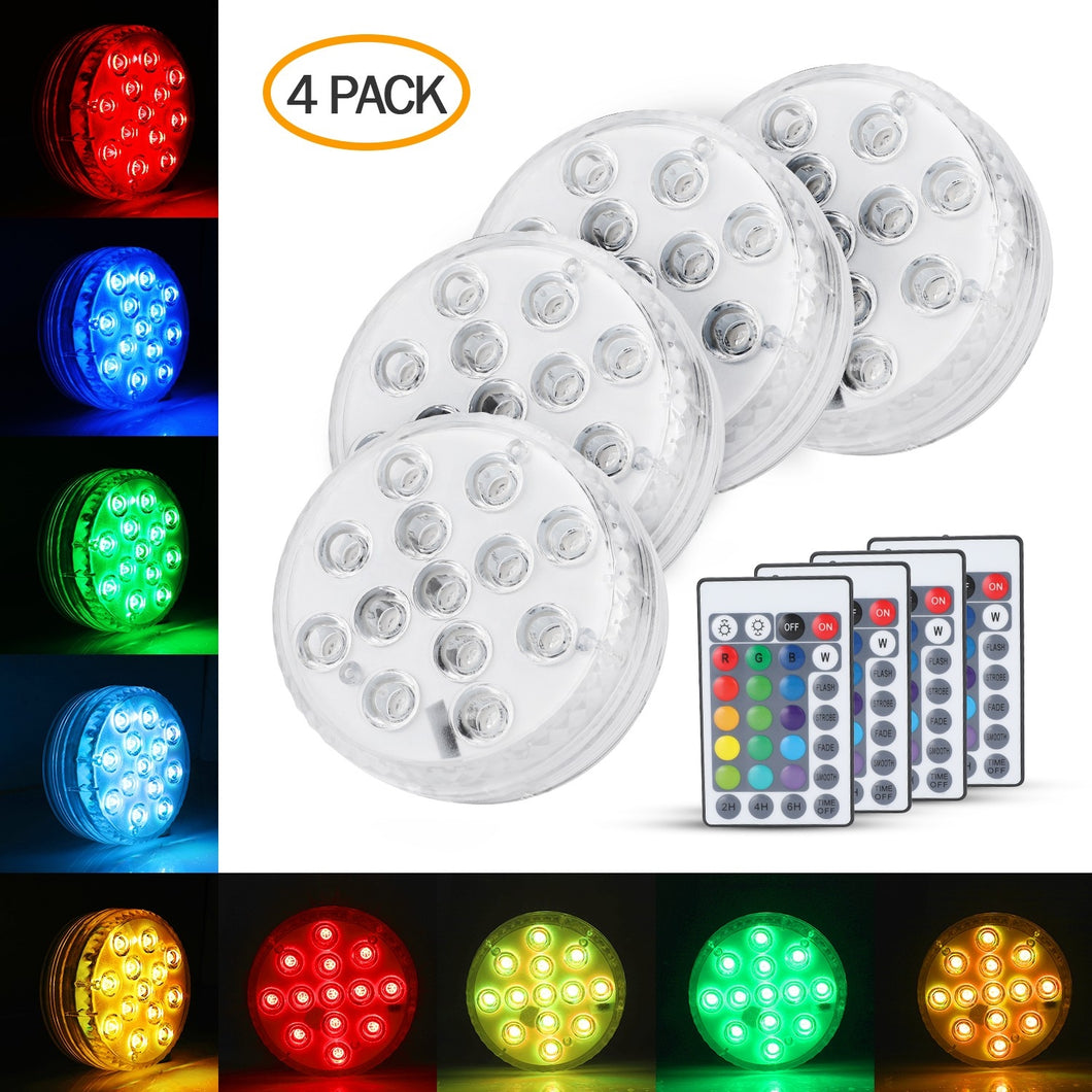 Submersible LED Lights 4PACK