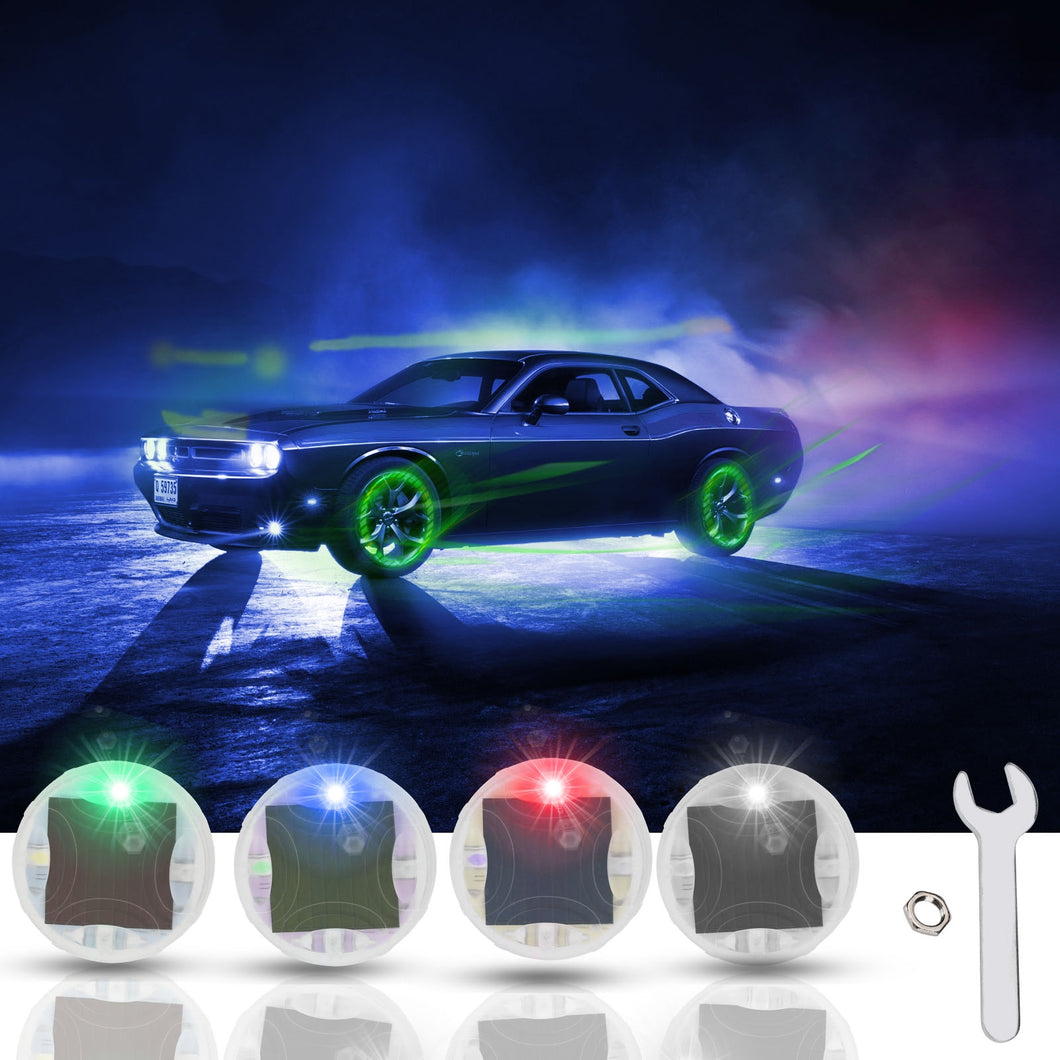 Car Tire Wheel Lights- LED Tire Light Gas Nozzle Cap Motion Sensors