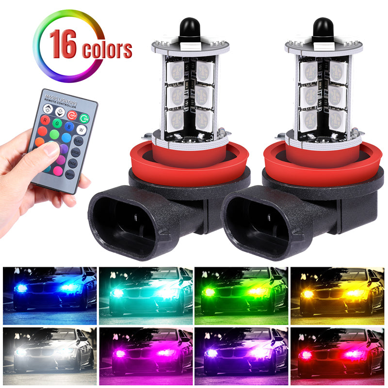 LED Bright Fog Lamp -High Power long Running -Colorful 4 Mode Switch