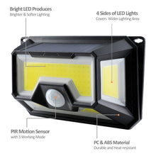 Load image into Gallery viewer, 154 LED  Powered PIR Motion Sensor Outdoor Lamp