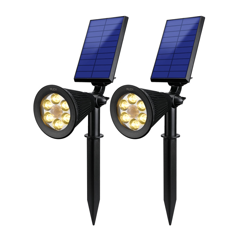6 LED Solar Power Garden Lamp Spotlight Outdoor Lawn Landscape Lights