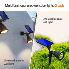 Load image into Gallery viewer, 6 LED Solar Power Garden Lamp Spotlight Outdoor Lawn Landscape Lights