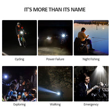 Load image into Gallery viewer, USB Rechargeable Super Bright LED Bicycle Headlight