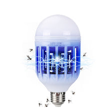Load image into Gallery viewer, 2 in 1 Light Zapper LED Light Bulb Bug Mosquito Fly Insect Killer Bulb Lamp