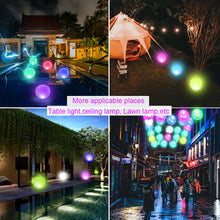 "Load image into Gallery viewer, 12""Outdoor Pool Ball Lamp 4 Color Changing LED Night Light"