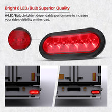 Load image into Gallery viewer, 2Pcs Trailer Truck Boat Red 6 LED
