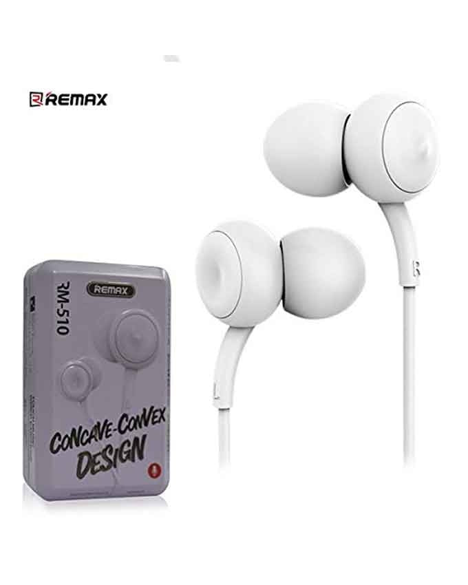 Remax Concave Convex Design Earphone RM-510 - Grey