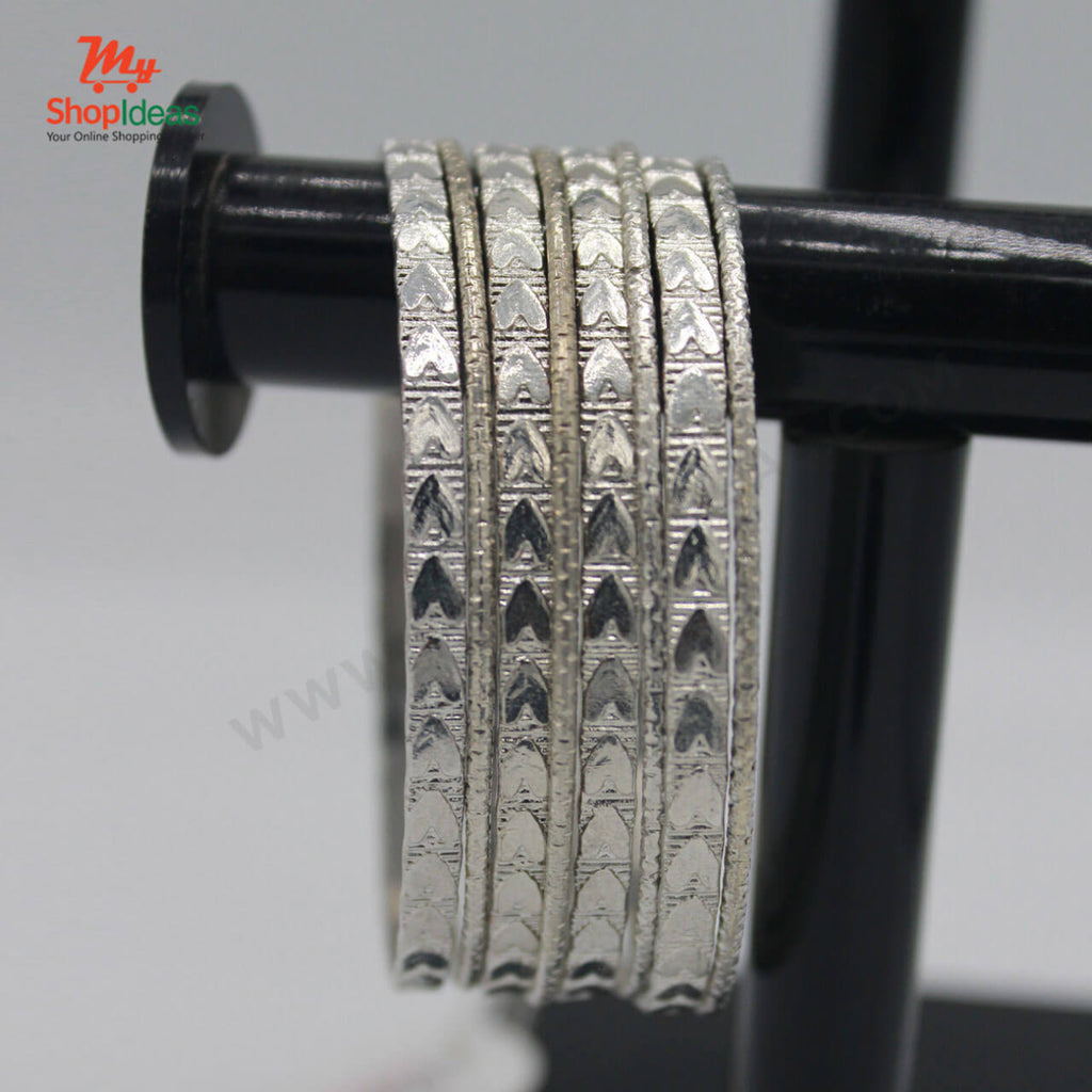 Indian Silver Plated Bangles - 4 Pieces set