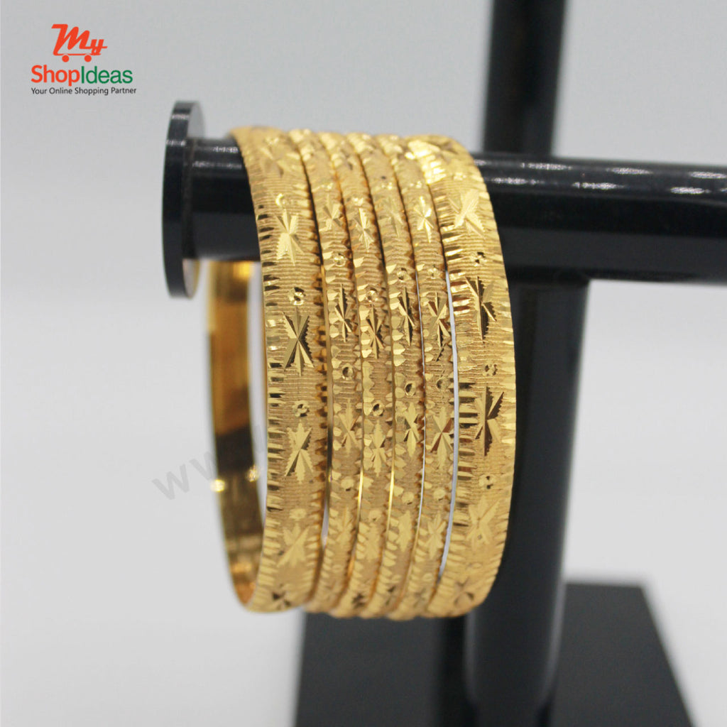 Set of 6 Gold Plated Attractive Bangles For Women