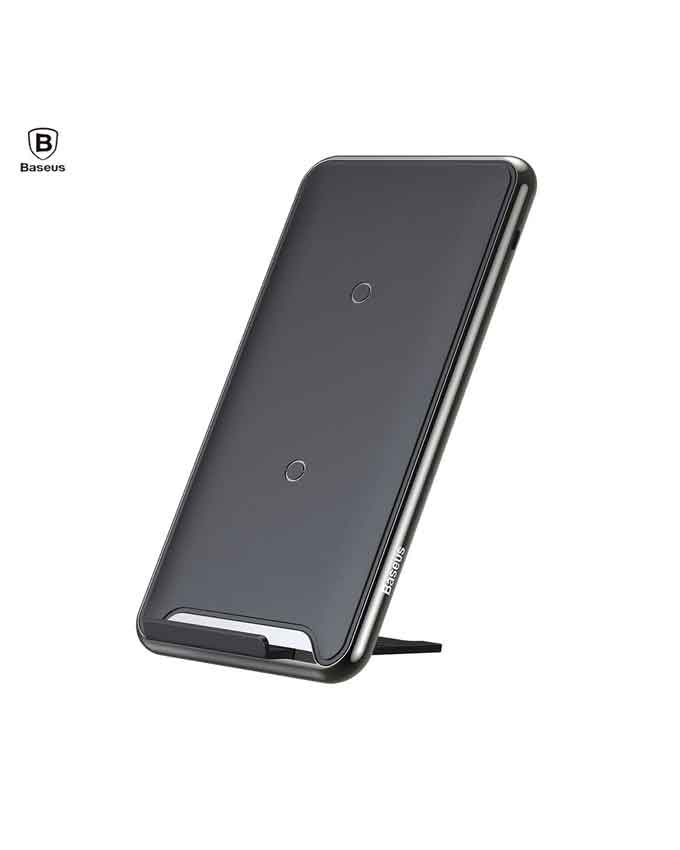 Baseus B01 Type-C Three Coil Wireless Charging Pad With Desktop Holder