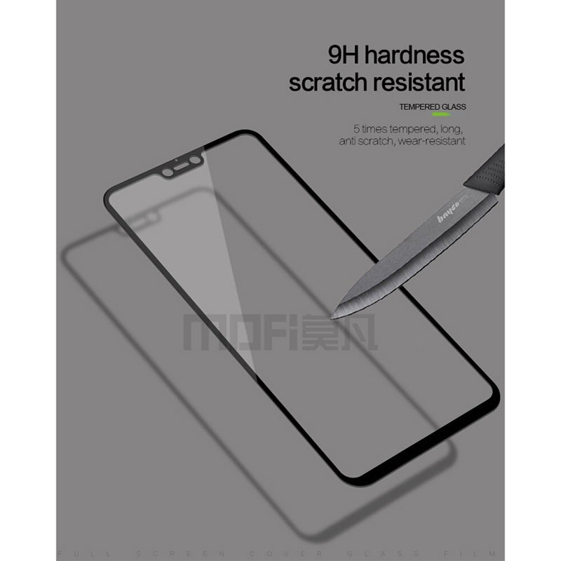 MOFI Vivo V9 2.5D 9H Full Screen Protector Tempered Glass Anti BlueRay BLACK