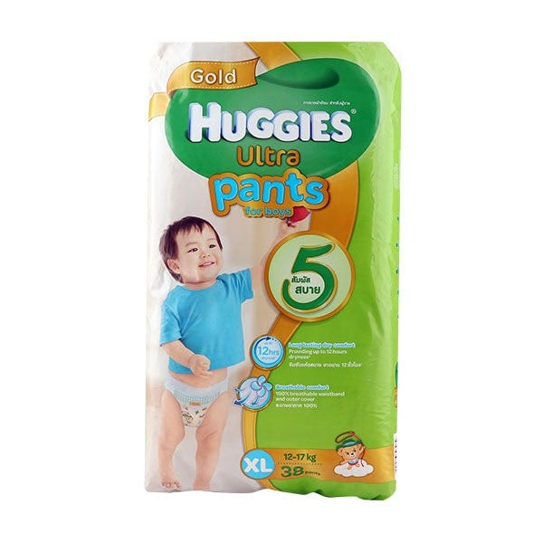 (Expiry Date 19-May-21) Huggies Ultra Pants For Boys Xl Pack 38 Pcs