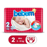 Bebem Diaper Jumbo Pack Mini 36 Pcs