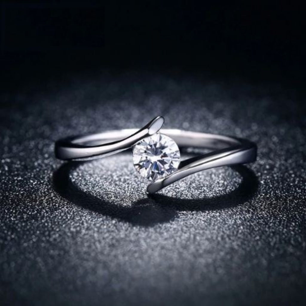 Clear Zirconia Classic Ring
