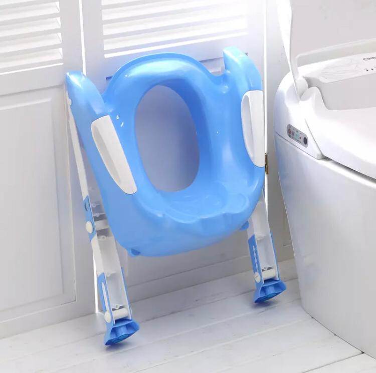 Teddie Children's Toilet Ladder – Blue