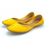 Khussa In Mustard Color For Girls