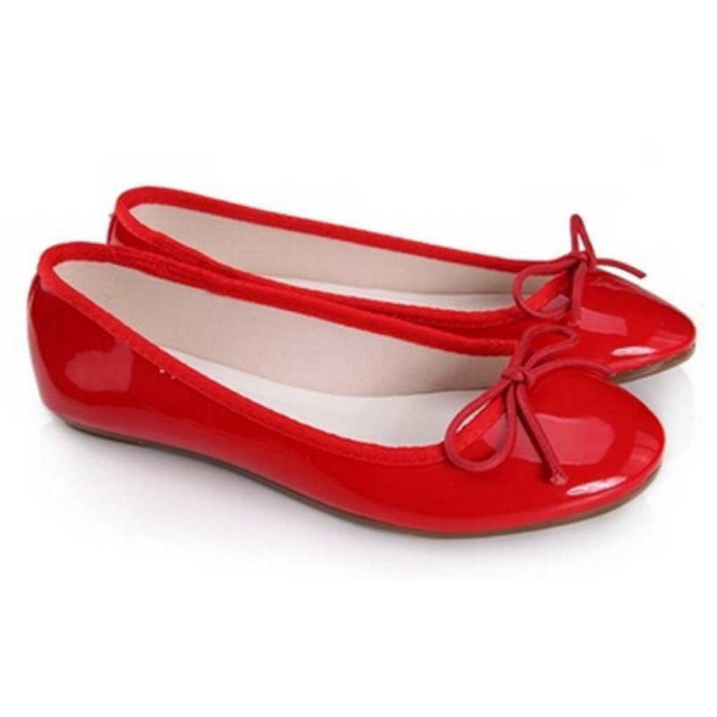 New RED FLAT SHOES FOR WOMEN