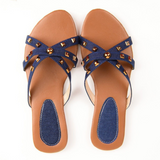 WOMEN BLUE STYLISH FLATS SH147