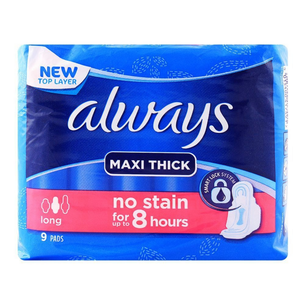 Maxi Thick pads no Stain for 8 hours