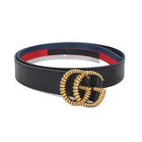 GUCCI GG-logo Red Line leather belt