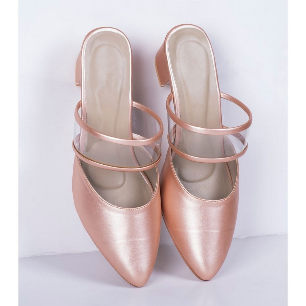 WOMEN PEACH STYLISH HEELS