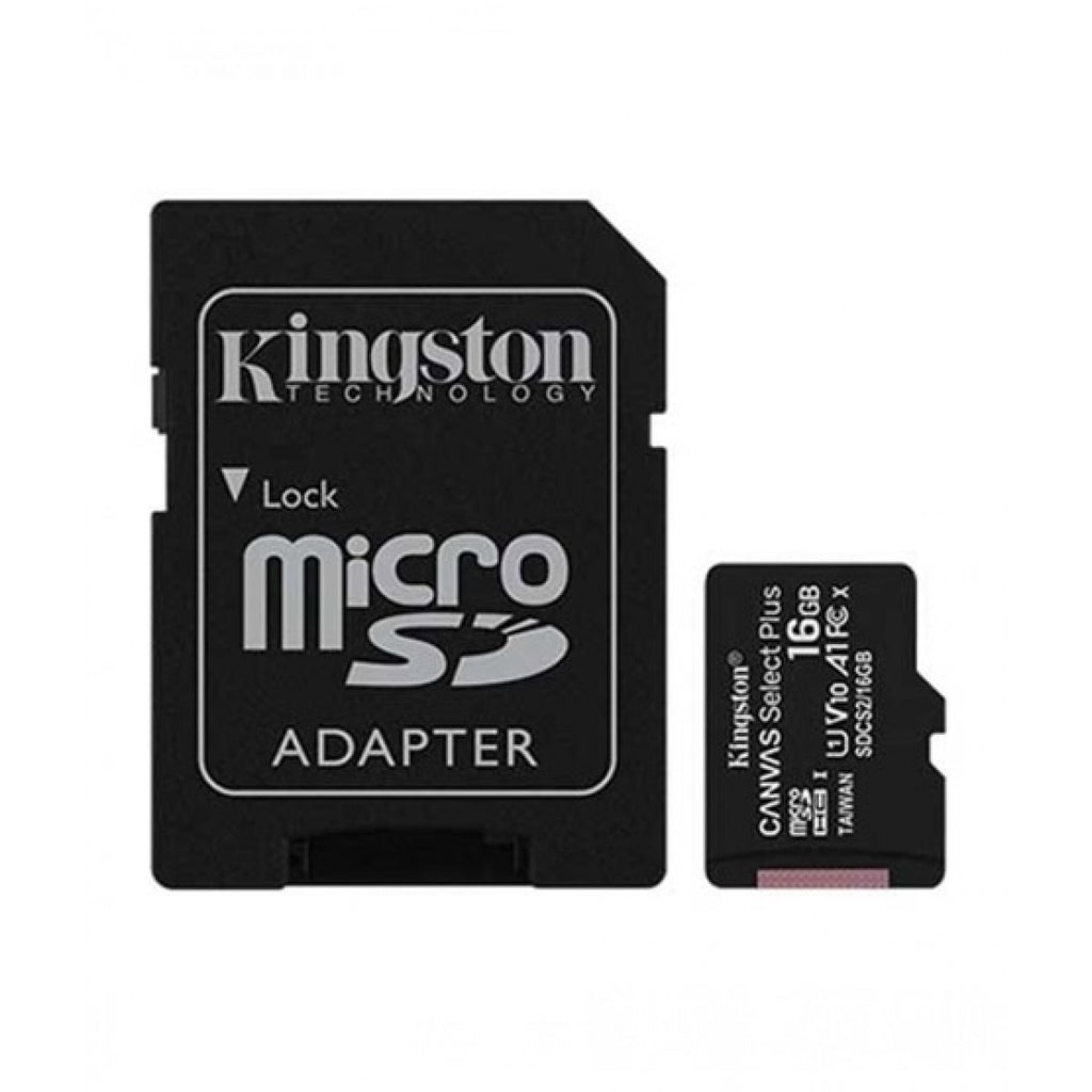 Kingston Canvas Select Plus 16GB Micro SD Card (SDCS2/16GB)