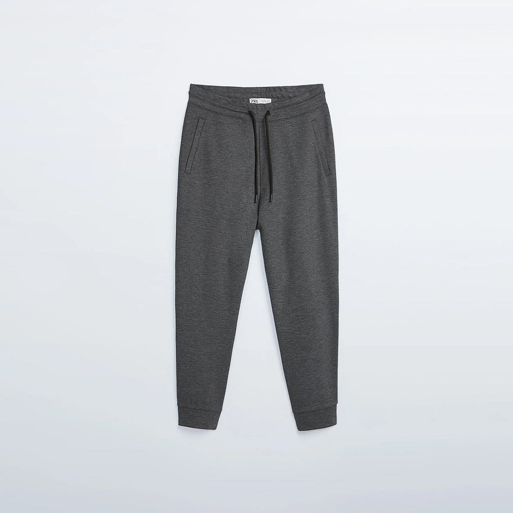 Z.A.R.A - Men 'Dark Grey' Stretch Zip Pocket Jogger Trouser ZR144