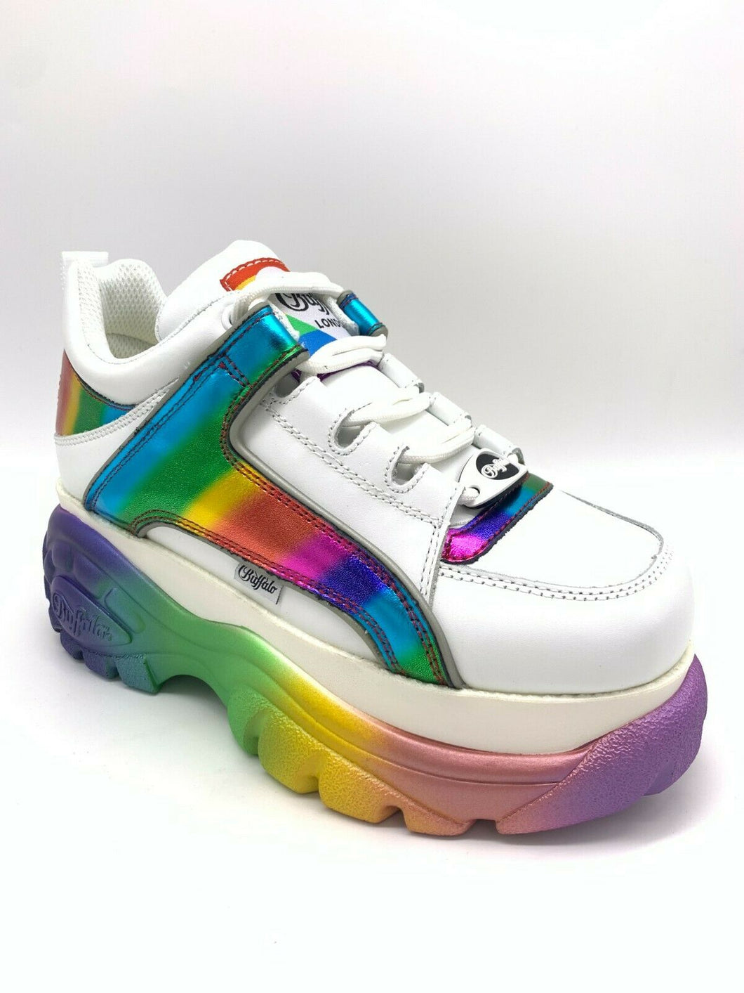 Buffalo London Classic Boots Shoes Plateau Schuhe 90er Pride Rainbow 1339-14
