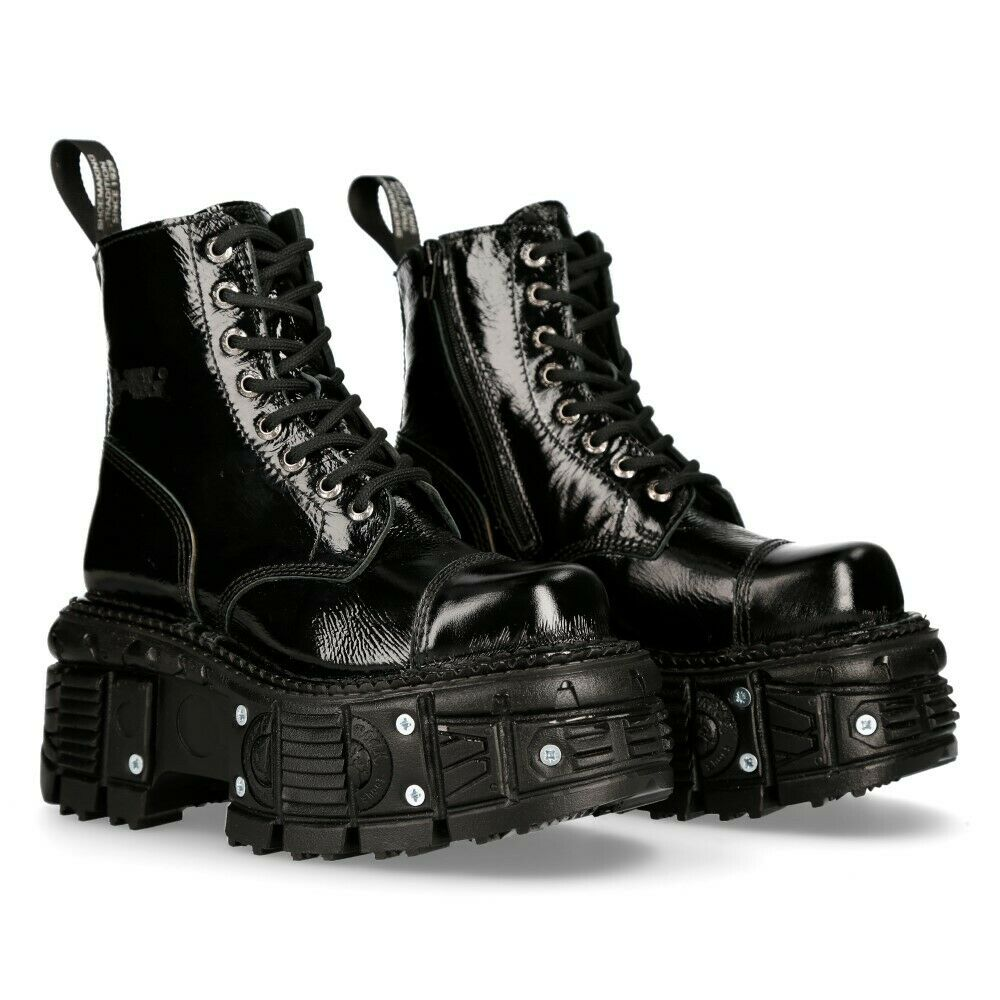 New Rock Schuhe Shoes Boots Stiefel M.TANKMILI083 Gothic Tank Collection Lack