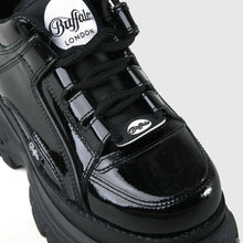 Lade das Bild in den Galerie-Viewer, Buffalo London Classic Boots Shoes Plateau Halb Schuhe 90er Schwarz Lackleder