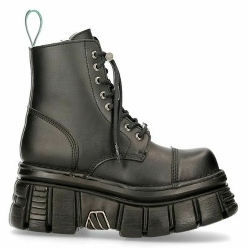 New Rock Boots Schuhe Stiefel Plateau Vegan Schwarz M.NEWMILI083-VS2 Tower