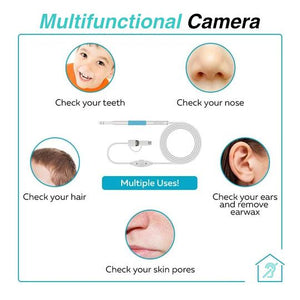 Our ear camera is safe for multiple uses - just clean it with an antibacterial wipe. Use it for your ears, mouth, nose, and more!