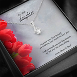 """To my daughter"" - Necklace gift from Mum & Dad"