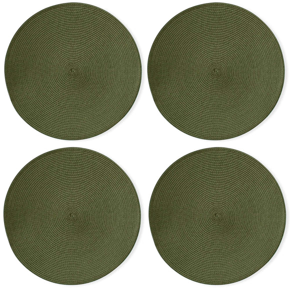 Olive Round Woven Placemats - Set of 4