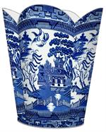 Blue Willow Wastebasket