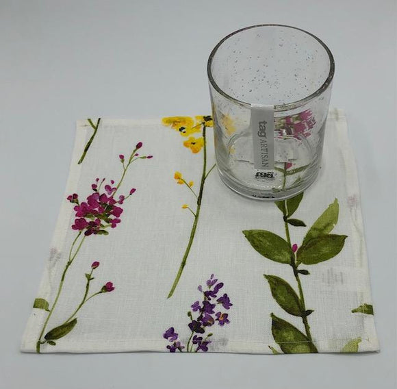Floral Stems Cocktail Napkin